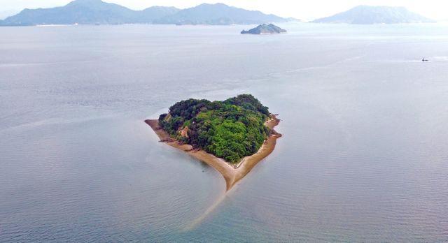 ハートの島「小芝島」を見に、大芝島(東広島市)へドライブ!