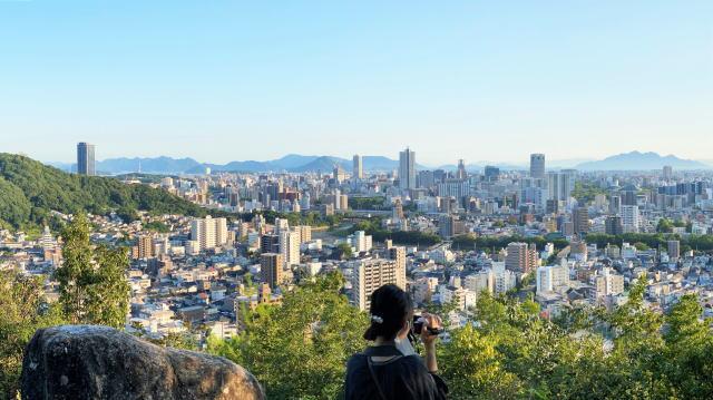 お散歩登山の「見立山」ちょっと気合の「神田山」広島市街地を一望!初心者ハイキング
