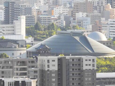 広島市東区「見立山」 から見える広島城
