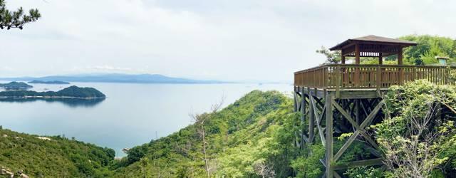 物見橋公園展望台と海