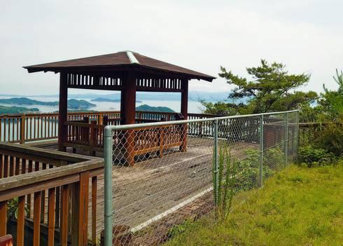 物見橋公園展望台 入口が封鎖されている
