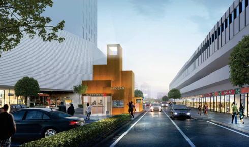 福山東警察署駅前交番庁舎 完成図イメージ
