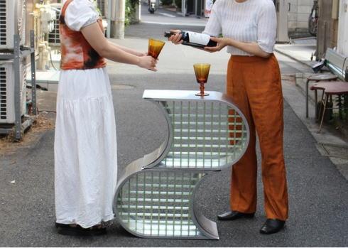 広島の街なかをピースにするデザイン エントランスファニチャー sisui