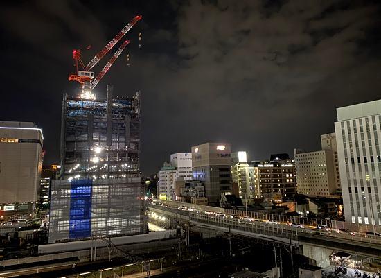 広島東郵便局、工事が進む広島駅前の風景