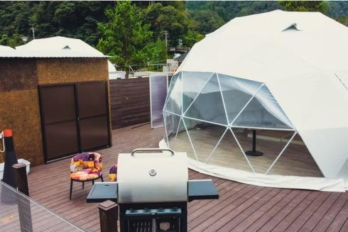 広島ドッググランピング 温井ダムリゾート 画像