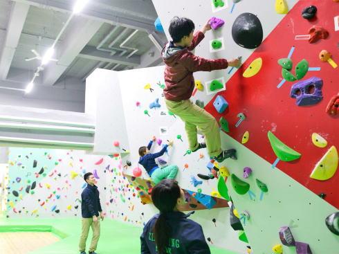 クライミングパーク東広島、ボルダリングが体験できる施設オープン 初心者OK